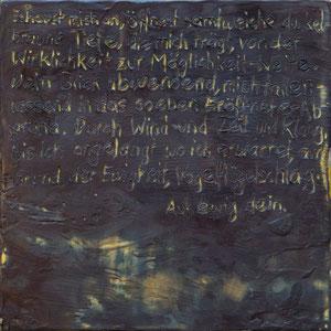 Muse – 2017 – Wachsmalerei auf Holz – 20 x 20 cm – CHF 450
