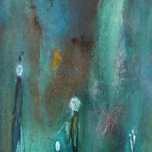 Figuren grün , 50 x 100 , 2012