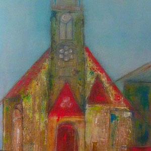 ev.Kirche Mainz-Gonsenheim , 50 x 90 , 2013
