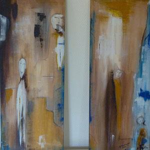 Firguren I und II , je 20 x 50 , 2011