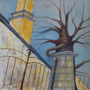 Fluchtpunkte , 90 x 90 , 2012