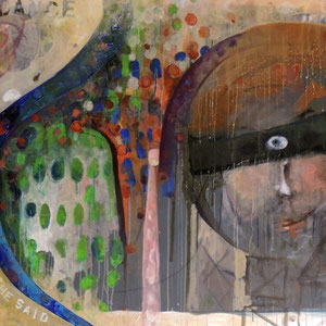 TANGO, Öl und Akryl auf Leinwand ,100 x 250 cm. 2014