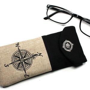Brillenetui Nauticus Kompass