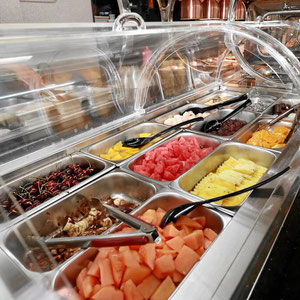 Früchte und Eis