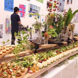 大阪市内アートギャラリー 30周年記念パーティー 軽食60名様分