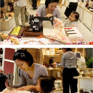 iichi初の実店舗(品川エキュート2階)での販売会 展示会ディスプレイプロデュース、自身での実演もしました