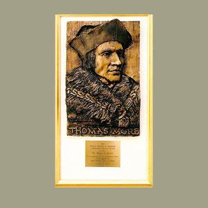 Bas-relief, mounted, St. Thomas More
