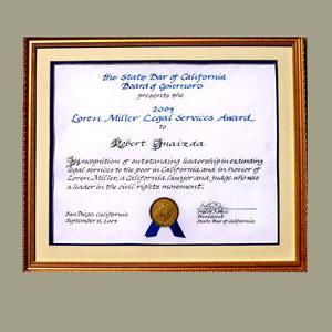 State Bar of California Special Recognition