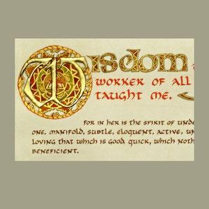 Book of Wisdom detail