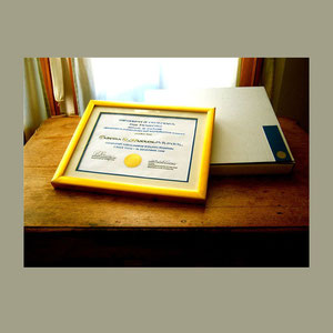 Custom Framed Certificate with Presentation Box