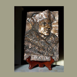 Bas-relief with easel, St.Thomas More