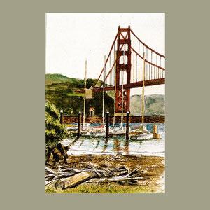 Golden Gate Bridge from Fort Baker