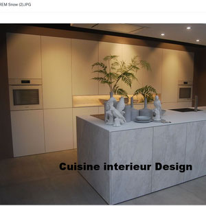 #cuisineinterieurdesign#création#toulouse#moderne#cuisine#design#aspect#ciment#sans#poignée#en#push#lash#mur#armoire#collection#et#tendances#2018#ilot#central