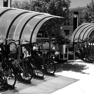 Respectable bike parking encourages bike riding. Common sense?