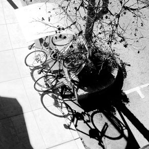 It takes a certain kind of bike rack to get that shadow art.