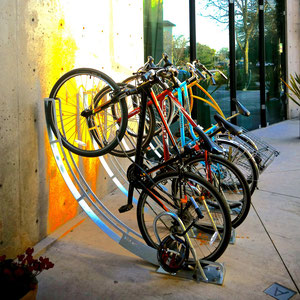 public art + bike rack = bike arc