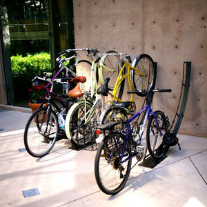 When space provides, our bike racks can be used as both vertical and horizontal bike racks.