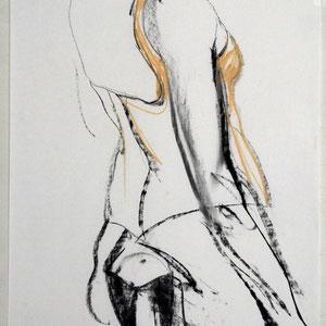 素描,2006,炭笔和粉笔,于素描纸,65 x 50 cm