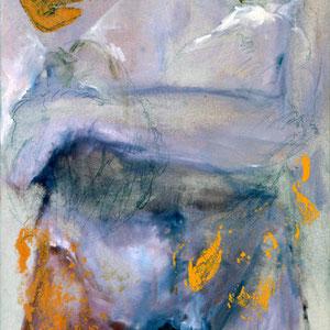 Etude, 1993, huile et émail glycérophtalique sur toile, 150 x 50 cm.