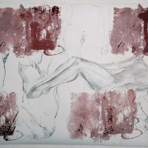 素描,2005,甘油颜料及炭笔,于裱在画布上的纸,150 x 200 cm