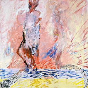 小家庭,第二版,1989,油画颜料于画布,180 x 180 cm,私人收藏,比利时