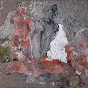 无题, 1994 - 1998,油画颜料于画布,89 x 16 cm