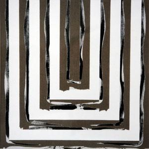 Sans titre, 1984, jeu d'enduit et acrylique sur toile, 180 x 180 cm, Collection particulière, France.