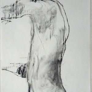 素描,2004,炭笔于素描纸,65 x 50 cm