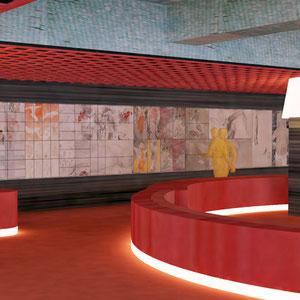 2011 - 展示厅设计方案,大型多折画,Fabre & Speller architectes建筑师事务所,北京,中国