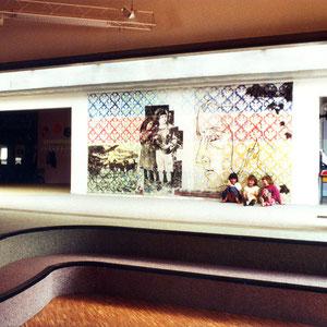 1988 - 绘画,装置及塑料膜墙纸,幼儿园,建筑师Yves Grange,Saint Rambert d'Albon,法国