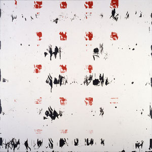 Sans titre, 1984, émail glycérophtalique sur toile, 180 x 180 cm, Collection particulière, France.