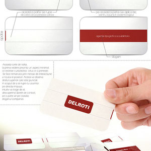 Delroti printing house Special Business card