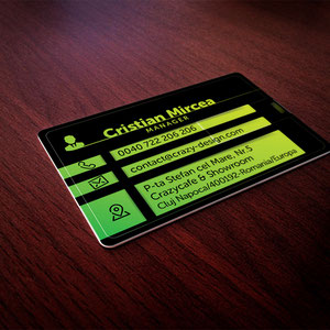 USB stick business card for decor clubs