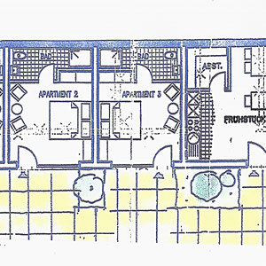 Grundriss Doppelzimmer 1-2-3