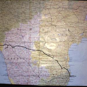 Route  Mumbai nach Madras