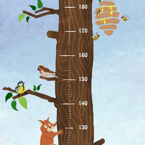 2D Illustration for children height bar (2018)