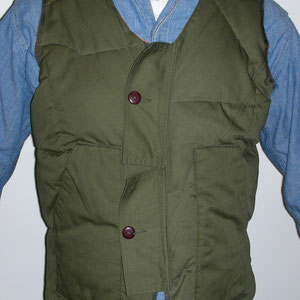 Overlock Sewing Machine Waste Filled Custom Quilt / FLEECE LINE VEST / NOW AVAILABLE AT BEAMS & MOHAWK GENERAL STORE