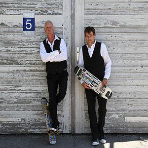 Eddie Haack und Guenter Mokulys in Österreich.