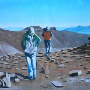 Salar de Uyuni, Bolivien, Acryl auf Leinwand, 90 x 140 cm