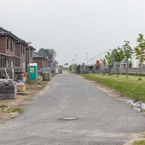 Burgsteinfurt, Wohnbebauung an Schiene