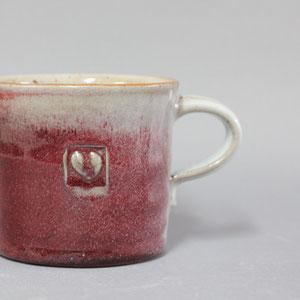 tazza grande h 8,5 ø 9,5  ml 330 colore rosso