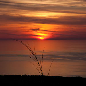 Sonnenuntergang bei Tornaccia