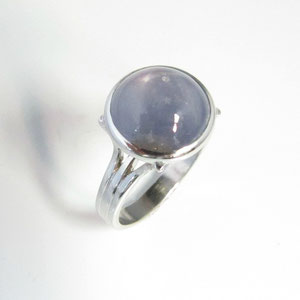 CS 21 - Platinum and 14k white gold ring featuring a star sapphire cabachon.