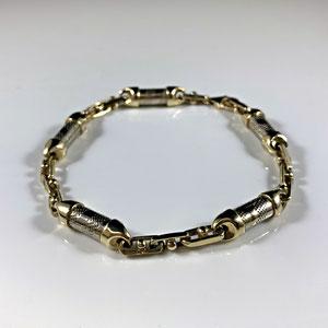 BR 18 - 10K two toned bracelet.
