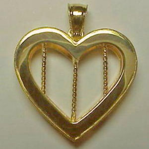 P 28 - 14K yellow gold pendant.