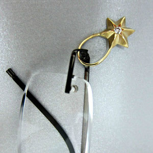 PB 8 - 14K yellow gold pin to hold your glasses close by.