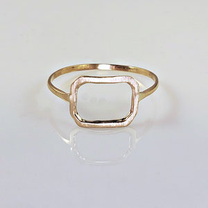 B 41 - 14K yellow gold ring with open design - satin finish on top.