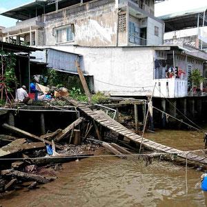 Unterwegs mit dem Boot im Mekong Delta – abenteuerlicher Landgang