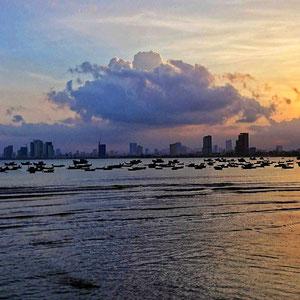 Sonnenuntergang über der City von Da Nang