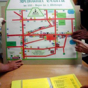 Der Stadtplan mit allen Geschäften und Einrichtungen